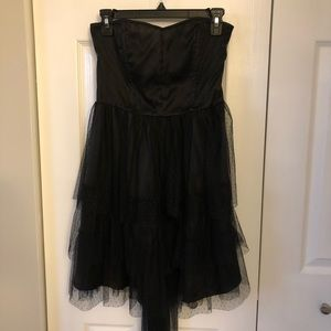 4/$25 H&M Divided Tulle Layered Strapless Dress